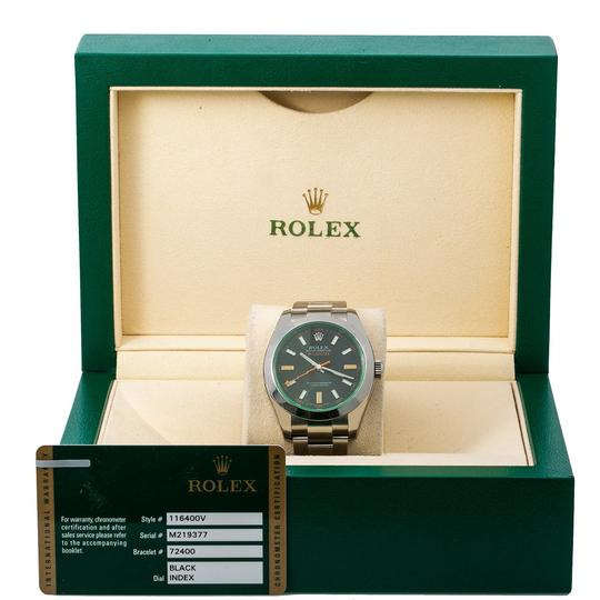 Rolex Rolex Milgauss 116400V 40MM Black Dial With Stainless Steel Oyster Image 5
