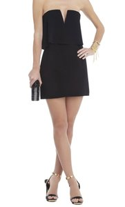 Bcbgmaxazria Black Kate Overlay Short Night Out Dress Size 2 Xs 52 Off Retail