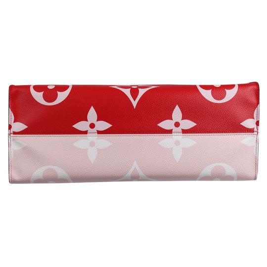 Louis Vuitton Onthego Giant Monogram Giant Collection On The Go Onthego Satchel in Rouge Image 7