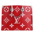 Louis Vuitton Onthego Giant Monogram Giant Collection On The Go Onthego Satchel in Rouge Image 8