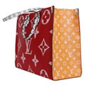 Louis Vuitton Onthego Giant Monogram Giant Collection On The Go Onthego Satchel in Rouge Image 2