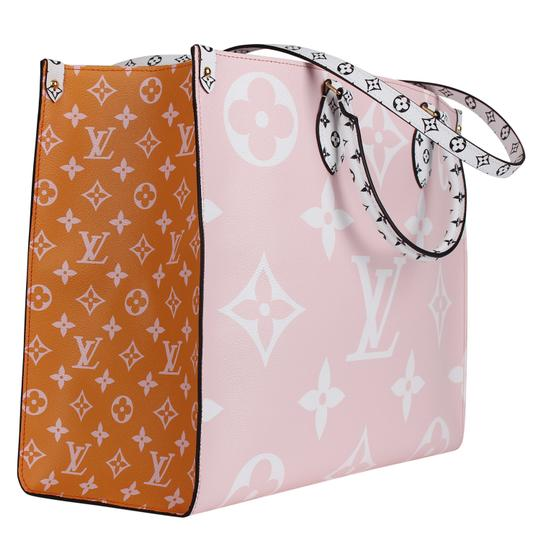 Louis Vuitton Onthego Giant Monogram Giant Collection On The Go Onthego Satchel in Rouge Image 3
