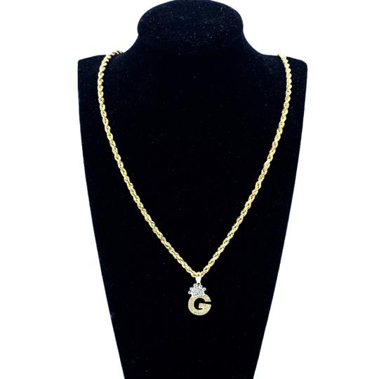 other (2009) 10K Yellow Gold Rope Chain With Initial G Charm Image 1