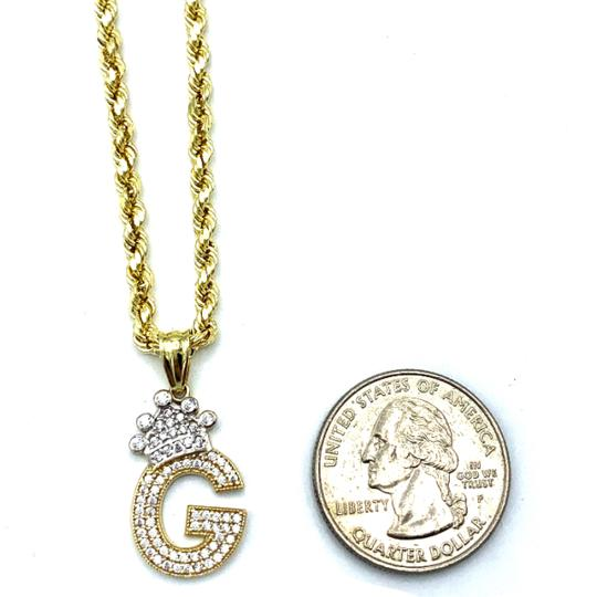 other (2009) 10K Yellow Gold Rope Chain With Initial G Charm Image 2