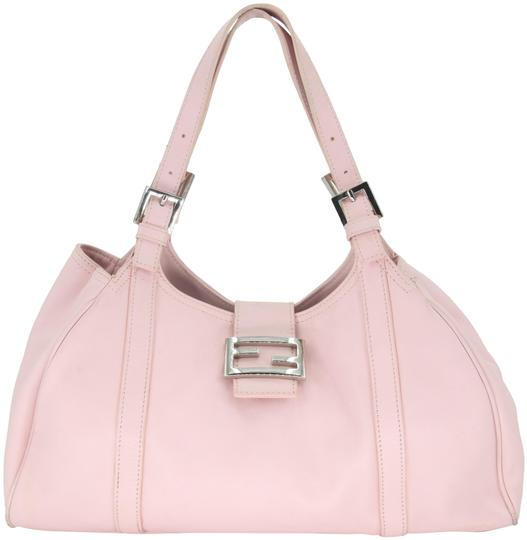 Preload https://img-static.tradesy.com/item/25496607/fendi-buckle-handbag-pink-silver-tone-hardware-lambskin-leather-shoulder-bag-0-2-540-540.jpg