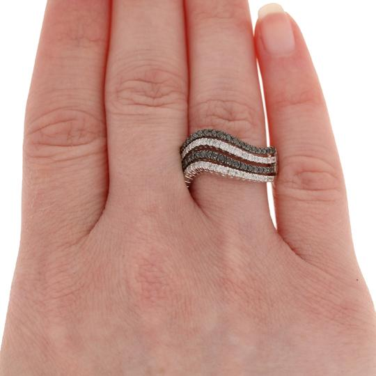 Other NEW 5/8ctw Single Cut Diamond Ring - Sterling Silver Curved E3989 Image 2