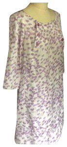 Marc Jacobs short dress Creme with purple. on Tradesy