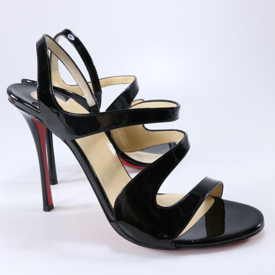 Christian Louboutin 100mm Vavazou Abstract White Heels Black Sandals Image 3