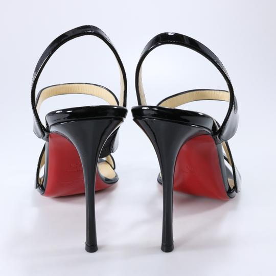 Christian Louboutin 100mm Vavazou Abstract White Heels Black Sandals Image 4