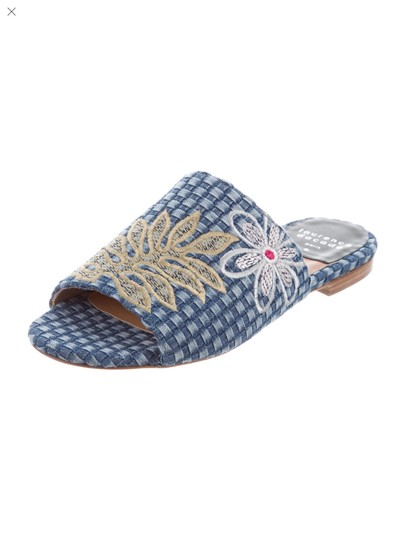 Laurence Dacade Blue denim and multicolor flowers Sandals Image 3