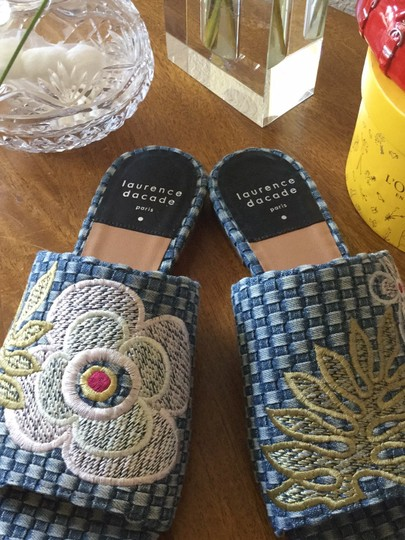 Laurence Dacade Blue denim and multicolor flowers Sandals Image 5