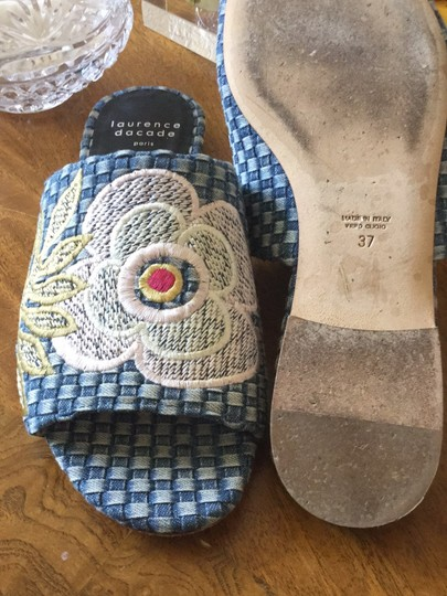 Laurence Dacade Blue denim and multicolor flowers Sandals Image 6