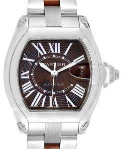 Cartier Cartier Roadster XL White Gold Walnut Wood Limited Edition Watch W6206