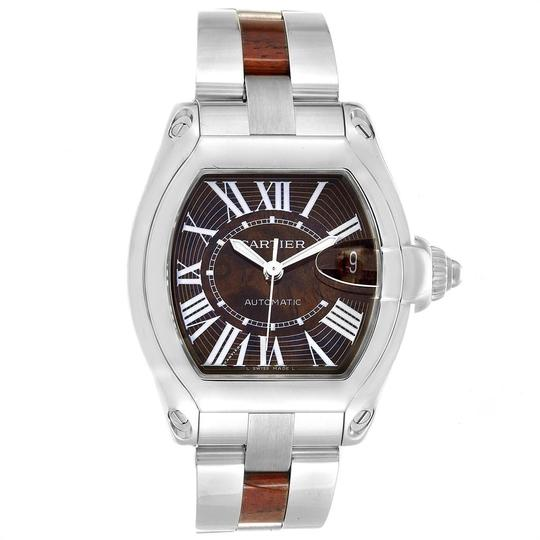 Cartier Cartier Roadster XL White Gold Walnut Wood Limited Edition Watch W6206 Image 1