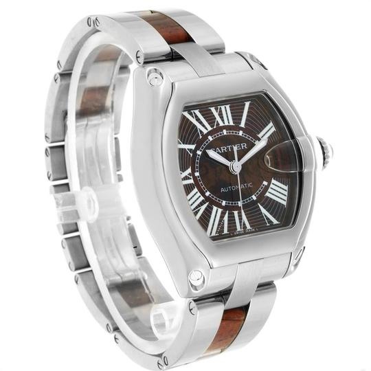 Cartier Cartier Roadster XL White Gold Walnut Wood Limited Edition Watch W6206 Image 2
