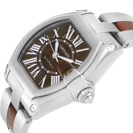 Cartier Cartier Roadster XL White Gold Walnut Wood Limited Edition Watch W6206 Image 4
