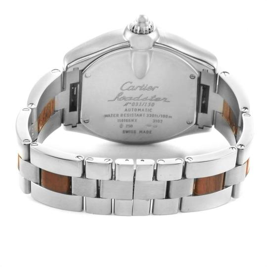 Cartier Cartier Roadster XL White Gold Walnut Wood Limited Edition Watch W6206 Image 6