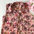 Liz Claiborne Sleeveless Floral Sheer Summer Spring Top Multi Image 1