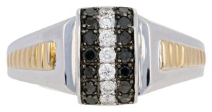 Other NEW Round Cut Diamond Ring - Sterling Silver & 10k Yellow Gold E4003