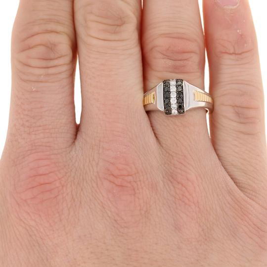 Other NEW Round Cut Diamond Ring - Sterling Silver & 10k Yellow Gold E4003 Image 2