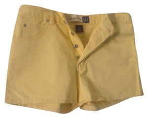 Gap Gap. Denim . Front . Pale Yellow Like New Cut Off Shorts