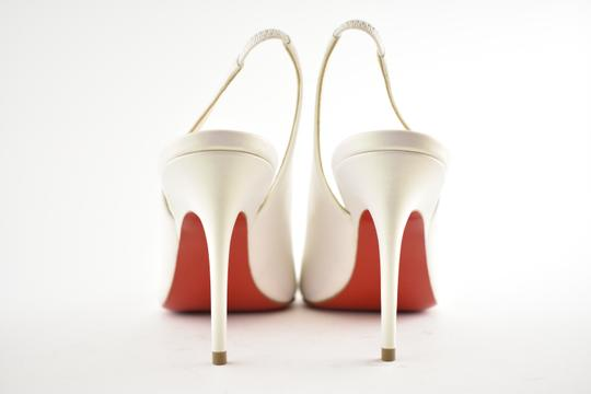 Christian Louboutin Pigalle Follies Stiletto Glitter Classic white Pumps Image 10