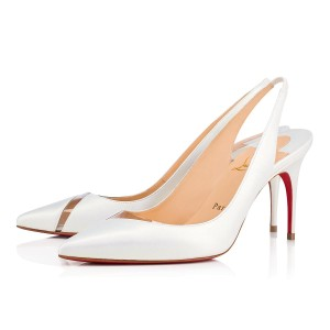 Christian Louboutin Pigalle Follies Stiletto Glitter Classic white Pumps