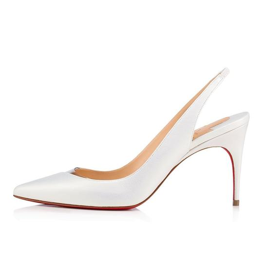 Christian Louboutin Pigalle Follies Stiletto Glitter Classic white Pumps Image 2