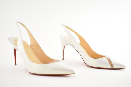 Christian Louboutin Pigalle Follies Stiletto Glitter Classic white Pumps Image 3