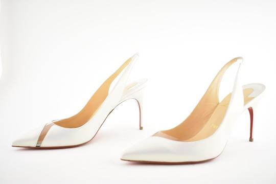 Christian Louboutin Pigalle Follies Stiletto Glitter Classic white Pumps Image 8