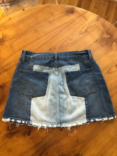 Madewell Mini Skirt jean Image 5