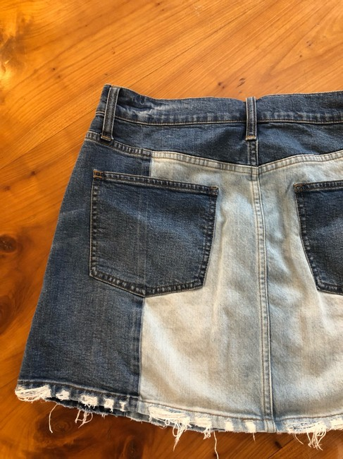Madewell Mini Skirt jean Image 6