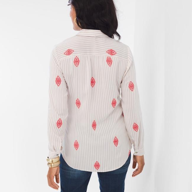 Chico's Top beige/coral Image 1