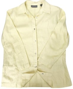 Kate Hill Button Down Shirt yellow