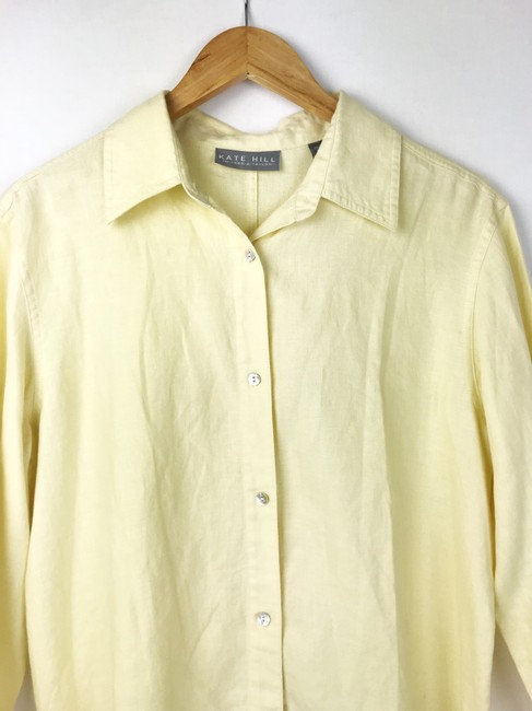 Kate Hill Button Down Shirt yellow Image 1