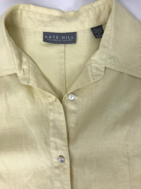 Kate Hill Button Down Shirt yellow Image 2