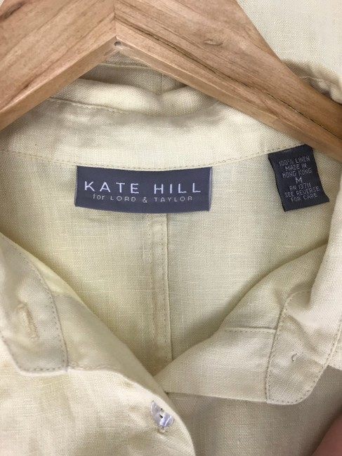 Kate Hill Button Down Shirt yellow Image 3