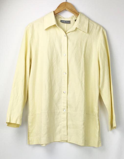 Kate Hill Button Down Shirt yellow Image 5