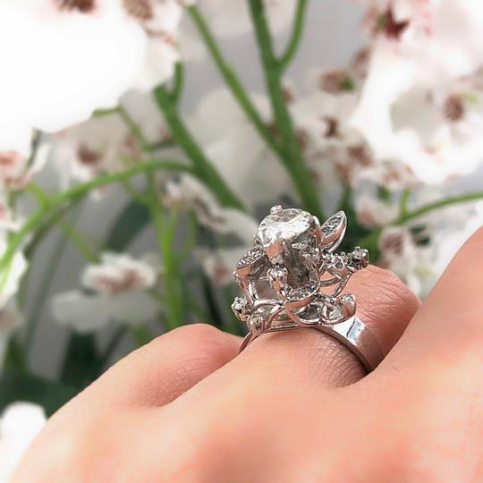 Cocktail Ring Old Cut Round Diamond Flower Ring 1.12 tcw in 18k Cocktail Ring Image 5
