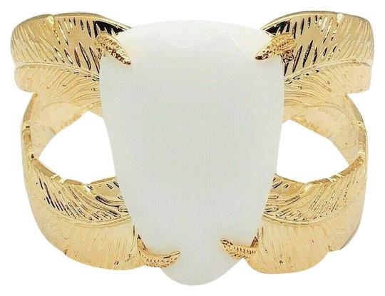 Kendra Scott Gold Mop White Mother Of Pearl Celeste Cuff Bangle Bracelet Image 0