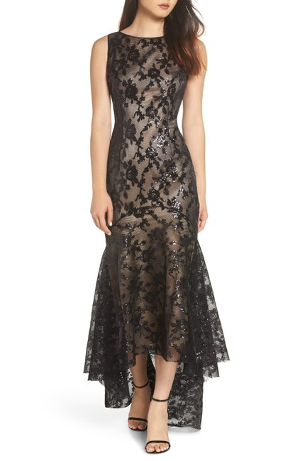 Preload https://img-static.tradesy.com/item/25497027/eliza-j-black-applique-lace-gown-long-formal-dress-size-petite-4-s-0-0-650-650.jpg