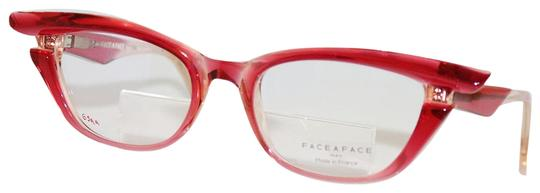 Bocca Face A Face New Face A Face Bocca Stars 1 Col. 2465 Transparent Raspberry Eyeglass Image 0