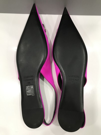 Balenciaga Logo Plaque Pointed Toe Made In Italy Branded Insole Slingback Fuchsia pink Flats Image 10