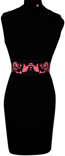 Preload https://img-static.tradesy.com/item/25497159/versace-collection-black-w-red-fitted-with-waistband-design-mid-length-cocktail-dress-size-4-s-0-1-650-650.jpg