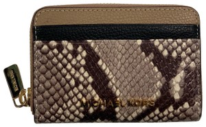 Michael Kors Jet Set Travel Embossed Leather Credit Card Case Small Wallet