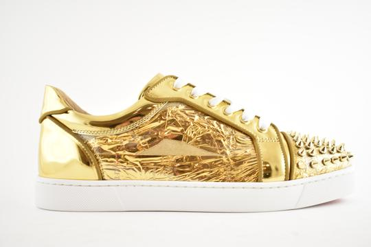 Christian Louboutin Flat Spike Sneaker Trainer Vieira gold Athletic Image 1