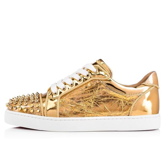 Christian Louboutin Flat Spike Sneaker Trainer Vieira gold Athletic Image 2