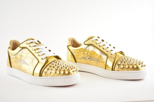 Christian Louboutin Flat Spike Sneaker Trainer Vieira gold Athletic Image 3