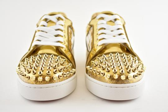 Christian Louboutin Flat Spike Sneaker Trainer Vieira gold Athletic Image 4