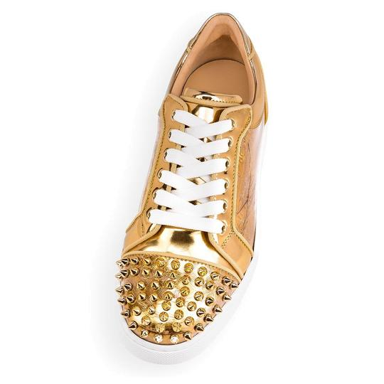 Christian Louboutin Flat Spike Sneaker Trainer Vieira gold Athletic Image 5